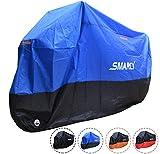 Smarcy Funda Protector para Moto, Cubierta para Moto / Motocicleta Resistente al Agua a Prueba de UV, Color Azul / Negro XXL