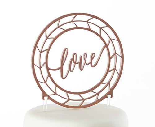 Kate Aspen Geometric Copper Love Cake Topper
