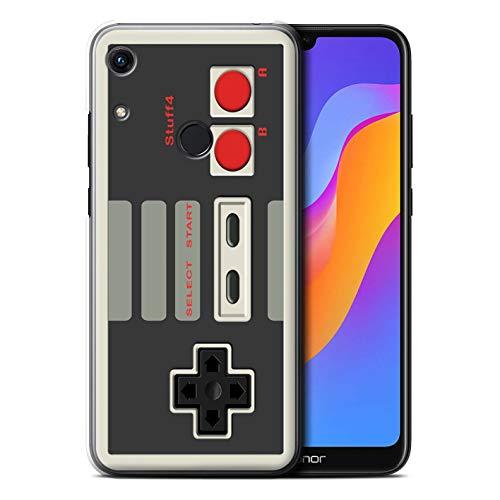 Hülle Für Huawei Honor 8A/Play Spielkonsolen Klassisches Nintendo Design Transparent Ultra Dünn Klar Hart Schutz Handyhülle Case