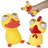 PROLOSO Eye Popping Duck Chicken Poppin Peepers Fidget Squishy Toys for Stress Relief Anxiety Reduction 2 Pcs