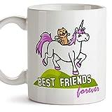 Taza De Porcelana El Mejor Regalo Personalizado De Porcelana De Cumpleaños De Unicornio De Gato Divertido Taza De Café De 330 Ml De Leche Novedad