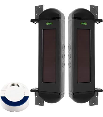 Dakota Alert BBA-4000 Solar Powered Break Beam Alarm Kit - BBT-4000 Infrared Wireless Transmitter and DCR-4000 Driveway Alarm Receiver, Up to 1 Mile Operating Range