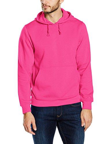 Clique Herren Basic Kapuzenpullover, Pink (Bright Cerise), M