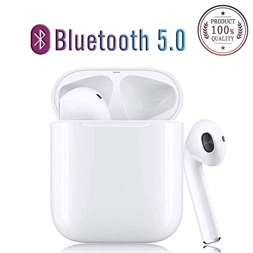 Bluetooth Kopfhörer TWS i12 Ohrhörer 3D Stereo Sound Touch Control Sicherer Sitz Pop-Ups Auto Pairing 24 Stunden Arbeiten Kabellose Kopfhörer für Sport IPX7 Wasserdicht Mini im Ohr Weiß