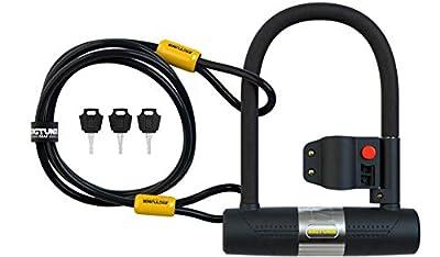 SIGTUNA Bike locks - 16mm Heavy Duty U Lock with U-Lock Shackle and Bicycle Lock Mount Holder + 1200mm Steel Chain Cable Bike Lock