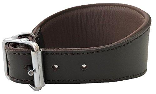 Hundehalsband, handgefertigt, Leder, gepolstert, Braun