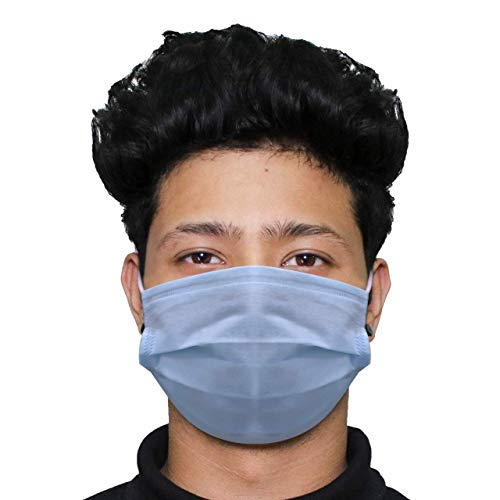HACER HC0001 3 Ply Non Surgical Disposable Face Mask 25 GSM Unisex...