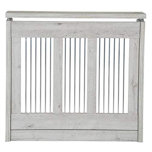 TOP KIT | Cubre radiador Cristian 3091 | Medidas exterior 90 x 83,5 x 18,5 cm | Medidas interior 84,5 x 81 x 15 cm | Blanco Mozart