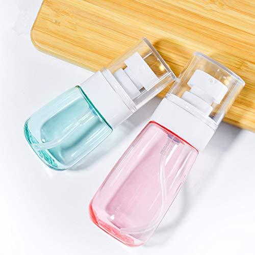 6 Pièces Flacon Vide de Voyage Plastique Distributeur Rechargeables Flacon Pompe Bouteille en Plastique pour Lotion Shampooing Huile de Massage Dispensing Bottle