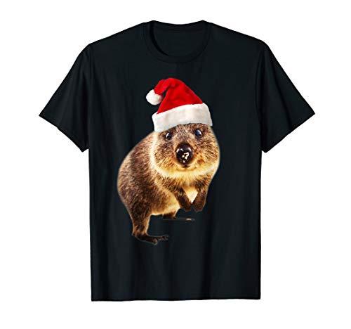 Quokka Weihnachtsmannmütze Geschenk für Quokkas Liebhaber T-Shirt