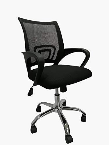 Mundo In Silla de Oficina Ejecutiva 107 MESH Negro Giratoria Silla Ergonomica Silla con descansa brazo, Silla escritorio, silla gamer
