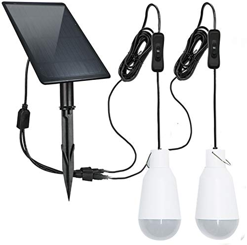 FEIFEIER Solar Light Blubs Portable 450LM Solar Shed Light