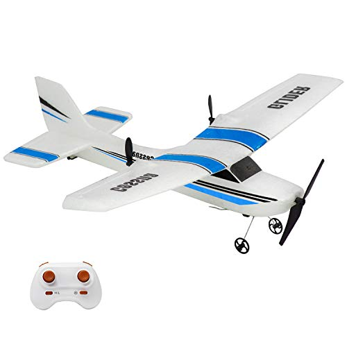 RC Plane, 2.4Ghz 2 Channel Remote Control Airplane Ready to Fly, EPP RC Aircraft Built in 3-Axis Gyro, Super Fun Easy Fly Remote Control Plane for Kids Boys Adult Beginner
