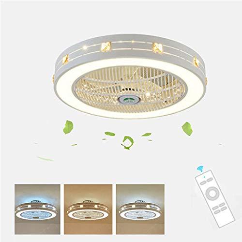 Ventilador De Techo Luz LED Y Funciones De Control Remoto, Regulable 40W Luz De Techo,...