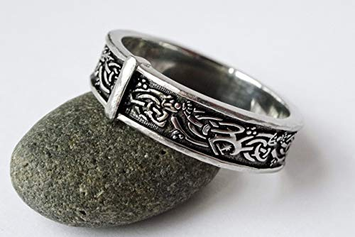 SALE - Celtic Highland Interlace Knot © - Sporran Rng - Stainless Steel - His or Hers Outlander ring
