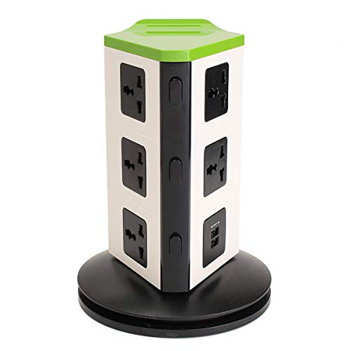 Switches Universal 8 Port EU Plug Socket Wall Charger Dock Station with bluetooth Speaker