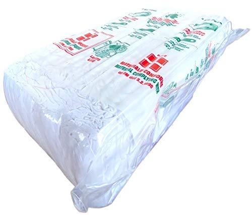 Fetex Putztücher [Brick] Trikot Baumwolle Putzlappen [2-kg-Packung] weiß | sehr saugstark und weich