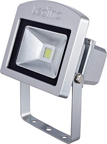 Ledino LED-Flutlichtstrahler, 10 W, 3000K, Silber, Epistar LEDs, 850 Lumen