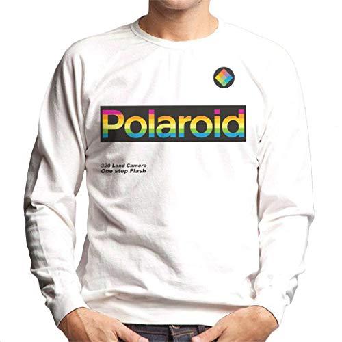 Polaroid Logo 320 Land Camera Men's Sweatshirt, White, S to XXL