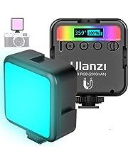 Lampa wideo LED RGB z wbudowanym akumulatorem, mini przyciemniane światło wideo 2500K-9000K, światło ciągłe, mała, przenośna mini lampa fotograficzna do DSLR Camcorder Smartphone