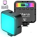 ULANZI VL49 RGB Video Light w 3 Cold Shoe,Mini Rechargeable LED Camera...