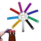 SacJkt Llavero Abridor De Botellas, Llaveros Abrebotellas Con Anilla, Mini Abrebotellas Creativo Portátil 9PCS Con Llavero Para Regalos Divertidos