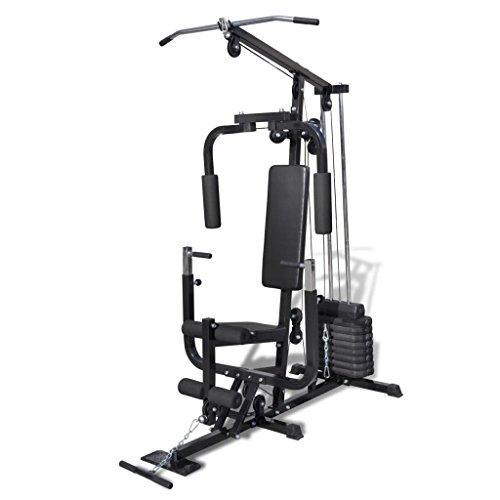 Festnight Multifunktionale Hantelbank Kraftstation Fitnessbank Trainingsbank Max. Belastung 100 kg Zuhause Fitness