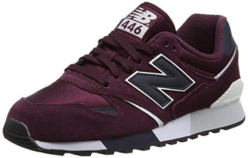 New Balance 446 80s Running, Zapatillas Unisex Adulto, Rojo (Burgundy), 43 EU