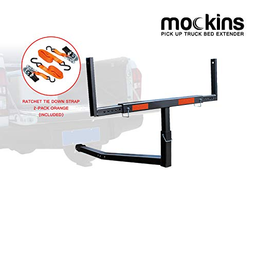 Mockins Heavy Duty Steel Pick Up Truck Bed Extender with Ratchet Straps | The...
