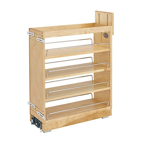 Rev-A-Shelf 448-BCBBSC-8C 448 Series 8 Inch Kitchen Pull Out Cabinet Organizer with Shelves for Kitchen Base Cabinets