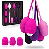 Kegel Exercise Products - Ben Wa Balls Kegel Balls for Women, Silicone Kegel Exercise Weights Kit -Doctor Recommended Pelvic Floor Exercises & Bladder Control Devices for Beginners & Advanced