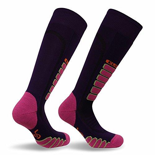 Eurosock Silver Supreme Ski Socks, Purple, Large