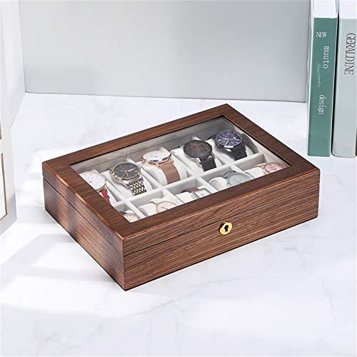 KORANGE Caja De Reloj De 10 Ranuras Soporte De Reloj Organizador De Relojes Caja De Reloj (Size : Lock Buckle)