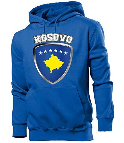 Golebros Kosovo ?????? Fussball Fanhoodie Fan Männer Herren Hoodie Pulli Kapuzen Pullover Fanartikel Trikot Look Geschenke Flagge zubehör Fahne fußball Fanartikel Oberteil Flag Artikel Outfit