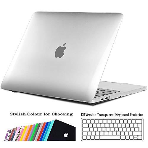 iNeseon Custodia MacBook Pro 15 (modello A1707 A1990), Plastic Case Sottile Copertina e Copertura della Tastiera per MacBook Pro 15 Pollici (2019 2018 2017 2016) con Touch Bar, Cristallo Trasparente