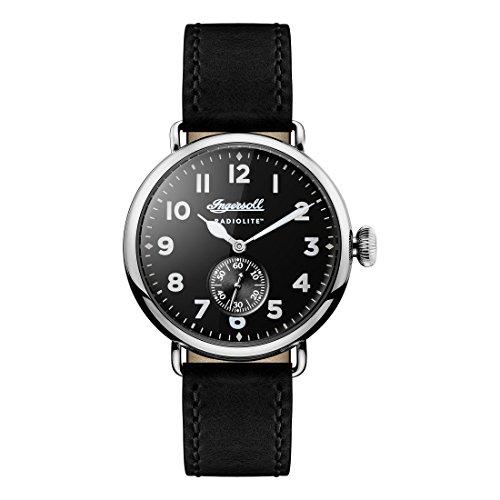 Ingersoll Herren Analog Quarz Uhr mit Leder Armband I03201