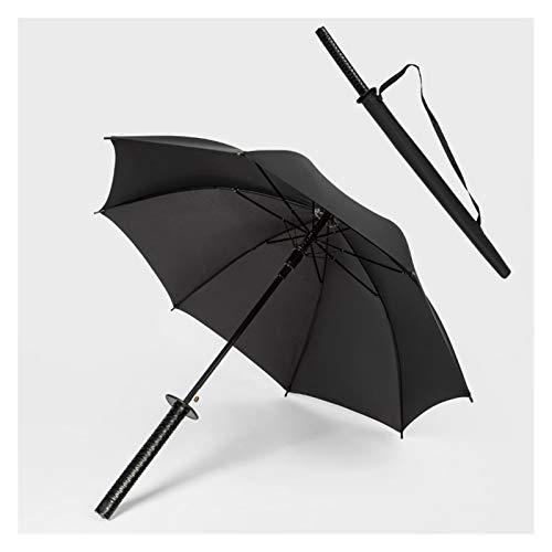 Goodhelper Paraguas de mango largo, estilo Katana de 8 huesos, paraguas de...