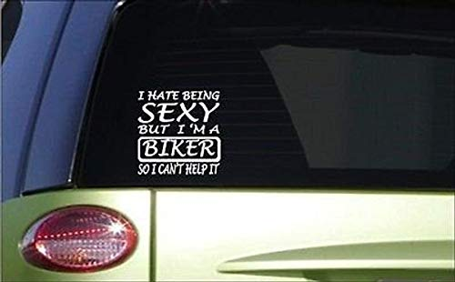 Cycay Sexy Biker 15,2 cm Sticker G34 Aufkleber Motorrad Bike Helm Reitstiefel Leder