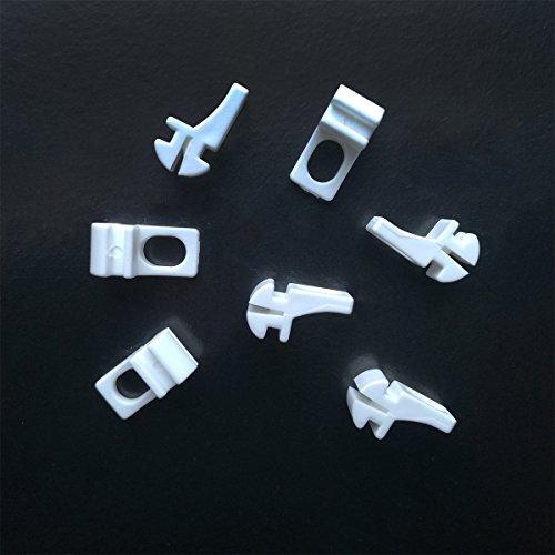 Rollmayer glänzend einläufig Gardinenschiene aus Aluminium (10 x Weiß Ösengleiter) Deckenbefestigung mit SMART-klick Montage, Innenlaufschiene für Vorhänge