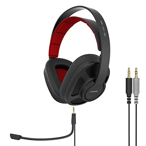 Koss GMR-540-ISO Over-Ear Gaming Headphones, Two Cords with Microphone Included, Closed-Back Design,...