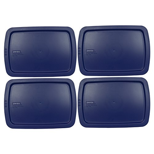 Pyrex C-233-PC Easy Grab Blue Rectangle Plastic Lid for 9' X 13' Oblong Baking Dish (Only Fits Easy Grab Baking Dish)