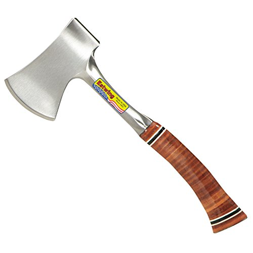 Estwing Sportsman's Axe - 14' Camping Hatchet with Forged Steel Construction & Genuine Leather Grip...
