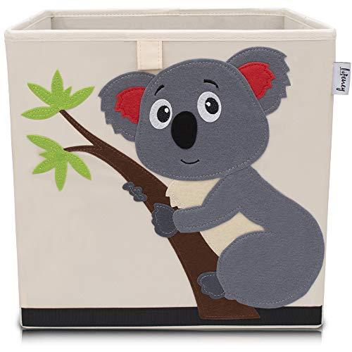 Lifeney portagiochi bambini | Pratico contenitore per mettere in ordine ogni cameretta | contenitore giochi bambini | porta giochi bambini contenitori | cesto portagiochi bambini (koala beige)