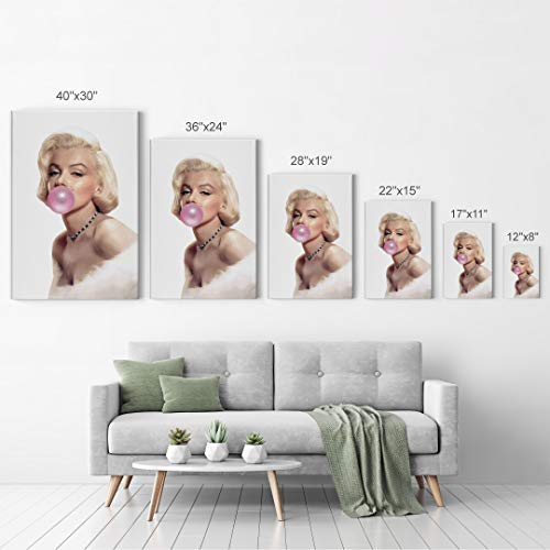 Marilyn Monroe Bubble Gum Chewing Gum Canvas Print Home Decor/Iconic Wall Art/Gallery Wrapped Canvas Art Stretched/Ready…