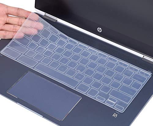 Keyboard Cover Skin for HP 14 inch Chromebook x360, HP X360 14a Chromebook, HP Chromebook 14-DA 14B-CA 14a-na 14-db/ca/ak 14b-ca0010nr 14a-na0020nr and HP Chromebook 14 G2 G3 G4 G5, Clear