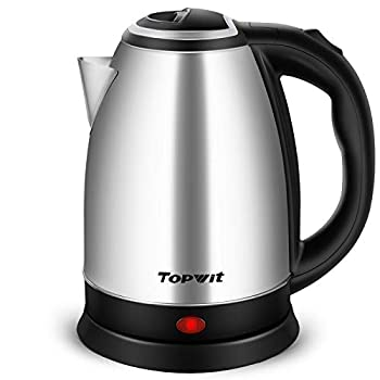 Topwit Electric Kettle Hot Water Kettle Upgraded 2 Liter Stainless Steel Coffee Kettle & Tea Pot Water Warmer with Fast Boil Auto Shut-Off & Boil Dry Protection