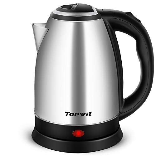 Topwit Electric Kettle Hot Water Kettle, Upgraded, 2 Liter Stainless Steel Coffee Kettle & Tea Pot, Water Warmer with Fast Boil, Auto Shut-Off & Boil Dry Protection
