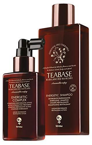 TEABASE - Trattamento Energetico Speciale Capelli Fini, Fragili ed Indeboliti Energetic Tecna - Shampoo e Complesso attivo