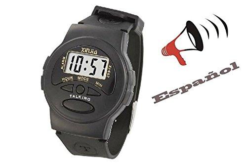 Que Habla Armbanduhr - Talking - Schwarz - Spanisch - Spanish