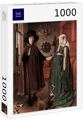 Lais Puzzle Jan Van Eyck - Boda de Arnolfini, Foto de Boda de Giovanni Arnolfini y Giovanna Cenami 1000 Piezas